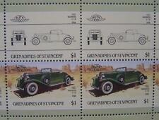 1932 MARMON V-16 / V16 Car 50-Stamp Sheet / Auto 100 Leaders of the World