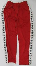Kappa Jogging Track Pants Red Vintage 90's Repeat Logo Men's Size XL