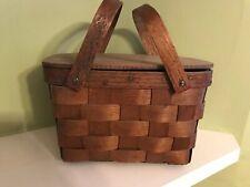 Vintage Basketville of Putney Vermont Double Handled Picnic Basket