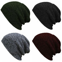Men Women Winter Fashion Baggy Beanie Hat Ski Slouchy Chic Unisex Knitted Cap