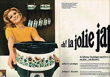 PUBLICITE ADVERTISING 064  1970  JAPY  la friteuse éléctrique JAPYFRIT ( 2 pages