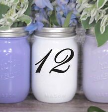 Wedding Table Numbers 1-10,15,20,or 25 Centerpiece Vinyl Sticker Decals (c)