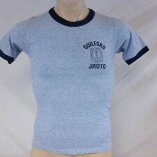 Vintage Guilford JROTC T Shirt US Army Ringer Heathered Rayon 70s Tee 80s Medium