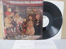 DUFAY- Missa 'Se La Face Ay Pale'. Zwei Hymnen lp (Tölzer Knabenchor) HMS 30683