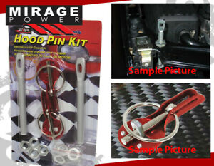 Red Aluminum Race Hood Security Lock Down Pin Kit Pair For Chevy Cavalier Cobalt