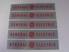 Vintage 5pc Lot General Electric Metal Logo Plate Peel Stick Logo Label Rare NOS