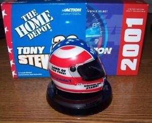 TONY STEWART #20 STARS & STRIPES 2001 ACTION 1/4 MINI HELMET 2000/2004 MADE