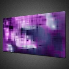 PURPLE BLUE LINES ABSTRACT MODERN CANVAS PICTURE PRINT WALL ART MODERN DESIGN