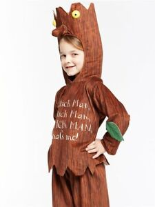 Childs Official Stick Man Fancy Dress Costume World Book Day Week Twig Boy Kids