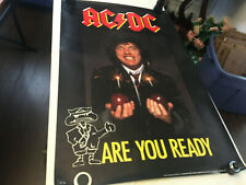 AC/DC 1990 POSTER RARE 34.5 X 22.5 ARE YOU READY
