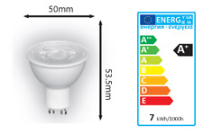 LED GU10 Bulb 7W=75W 550 Lumens BRIGHT 3 Stage Dimmable Cool White 502