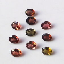 10 Pieces 5X4 MM Oval Cut Natural-Multi Color Tourmaline Facet Cut Gemstone Lot