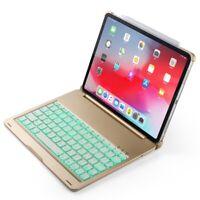 """Für Apple iPad Pro 11"""" (2018) Alu Hülle gold QWERTY Bluetooth US Tastatur LED"""