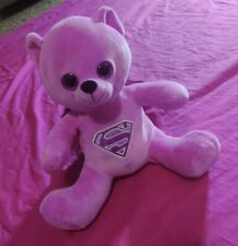 Six Flags Superman Pink Plush Teddy Bear