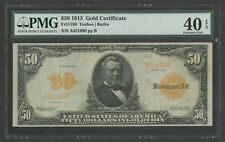 FR1199 $50 1913 GOLD NOTE PMG 40 EPQ EXT FINE (ONLY 2 XF PPQ KNOWN) WLM6773