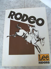 Vintage 1970's RODEO LEE RIDERS Poster 18x24
