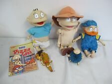 RUGRATS DOLLS BOOK FIGURES LOT TOMMY  WHIP-  SQUEAKS- ICE CREAM MATTEL VIACOM