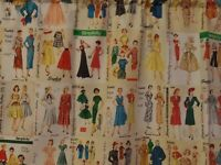 Vintage, Retro 1950's SIMPLICITY PATTERNS Fabric, Handmade Window VALANCES, NEW