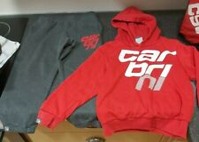 Carbrini hoodie Tracksuit 6-7 years red and grey