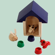 DOLL HOUSE FURNITURE KIDS STUFF  ANIMALS IN KENNEL 1/12 SCALE KT04