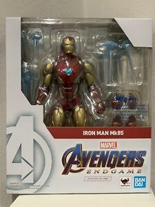 Authentic BANDAI S.H.Figuarts Iron Man Mark 85 Figure Avengers End Game