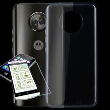 Für Motorola Moto X4 Silikoncase TPU Transparent + 0,3 H9 Glas Tasche Hülle Neu