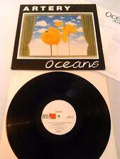 ARTERY - OCEANS LP + INSERT!!! UK 1ST PRESS RED FLAME RFM 4 JOY DIVISION