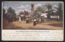 POSTCARD CASE FARM STEAM TRACTOR  HILL CLIMB EXHIBIT PROMO AD 1907