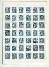25 centimes bleu type Cérès Lot de 42 timbres Lot Numéro 1