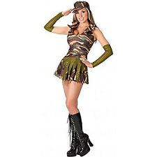 Forever Young Ladies Sexy Army Brat Solider Halloween Fancy Dress Costume