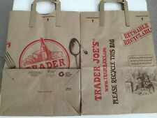Trader Joe's Brown Paper Shopping Bags With Handles - Large, Reusable (10 Count)