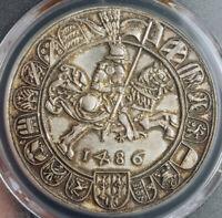 1486/1953, Austria, Archduke Sigismund. Silver Guldiner. Restrike! PCGS MS-66!