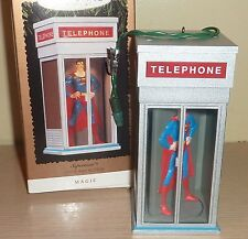 1995 Hallmark Ornament ~ Light and Motion ~ Superman in Telephone Booth