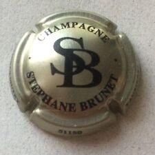 Capsule de champagne BRUNET Stéphane initial SB (or pâle et noir)