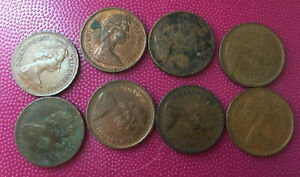 Britain uk 1/2 penny set coin