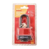Heavy Duty Padlock 40mm Long Shackle Waterproof 4 keys Security Home UK