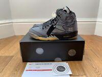 Off-White Jordan 5 Retro Black UK 7 EU 41 US 8 Brand New 100% Authentic
