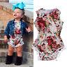 Floral Newborn Infant Baby Girls Bodysuit Romper Jumpsuit  Sunsuit Clothes 0-24M