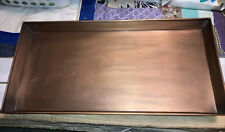 Smith & Hawken Garden Tray Copper Colored Metal Tray Large Boot Tray