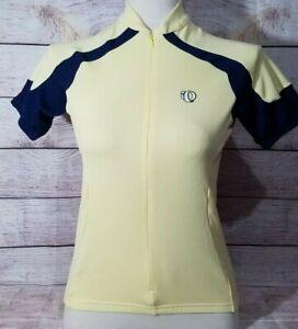 Pearl Izumi Women's Cycling Jersey Size Small Yellow Navy Blue Ultrasensor