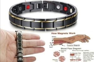 Titanium Steel Magnetic Therapy Health Bracelets
