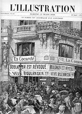 LE GENERAL  BOULANGER---------------------(L'ILLUSTRATION)  -1888--REGIONALISME