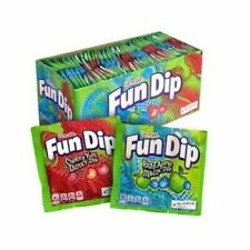 Fun Dip Lik-M-Aid Sour candy pouches apple and cherry fizz 39.6g Full box of 48