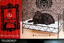 METAL FRAME LUXURY DOG BED