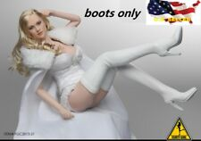1/6 women white boots fashion over Knee-High classic for phicen hot toys ❶USA❶