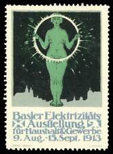 Switzerland Poster Stamp - 1913 Basel - Electricity Exhibition - Type 1