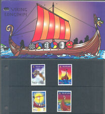 Isle of Man-The Vikings-ships set in pres pack mnh 1998