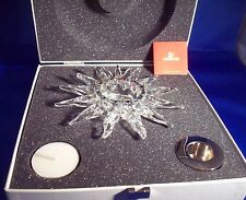 Swarovski Crystal Solaris Candle Holder New In Box w/Certificate of Authenticity