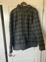 The North Face MEN'S Outbound Full Zip Hoodie Black Plaid Size XL MSRP $149