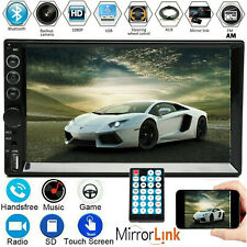 2DIN 7inch Car AM Radio Stereo MP5 USB Player Touchscreen Mirrorlink Bluetooth(Fits: Nissan)